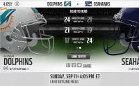 Tutto pronto per l'esordio in stagione Seahawks Dolphins