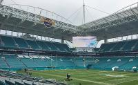 Tutto pronto all'Hard Rock Stadium per suonare i Browns