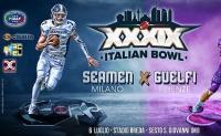 XXXIX Italian Bowl 2019 sarà #SeamenMilano #GuelfiFirenze